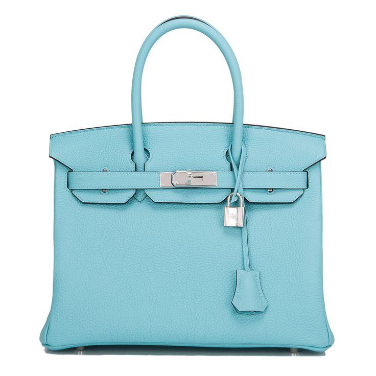 hermes replica - Hermes Birkin Bag 30cm Blue Atoll Togo Palladium Hardware | Hermes ...