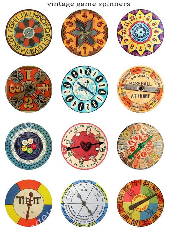 Vintage BOARD GAME SPINNERS - | Random