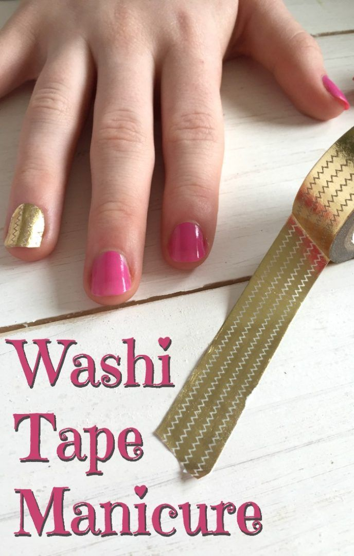 Style on a budget - the one with the washi tape manicure.... - The Diary of a Frugal Family
