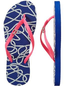 old navy flip flops - blue, pink, and an anchor charm?! perfect for @Mary Cichanski & @Nicole DeSalvo