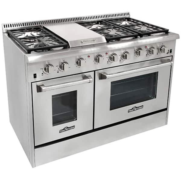 Thor Kitchen 48 Inch Stainless Steel Professional Gas Range With 6 Burners And Griddle Oven Range Kitchen Appliances Dual Oven