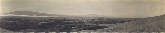 Rare Panorama of Parker Ranch and Town of Kamuela circa 1920