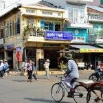 Chau Doc, xe loi in Bach Dang street. http://www.chaudoctravel.com/2013/03/daily-life-pictures-in-chau-doc/
