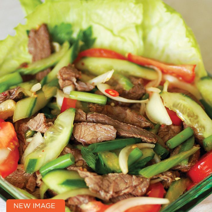 Thai Style Beef Salad, amazing low carb recipe that is sooo quick and easy!