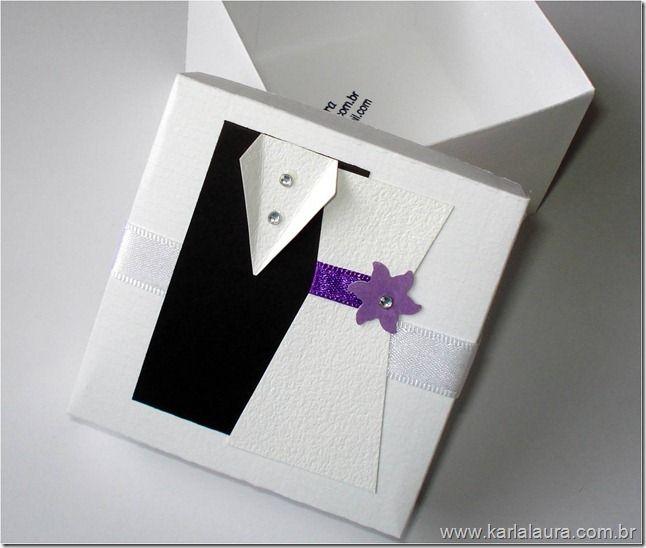 Karla Laura Convites, Lembranças e Papelaria Personalizada: Caixa Casal de Noivinhos para Bem Casados