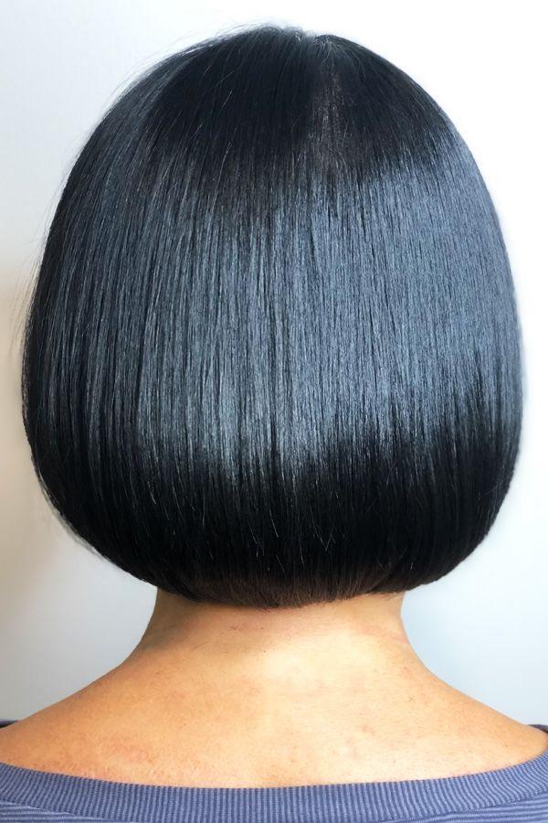 Black Hair Color Bob Haircut Friseur