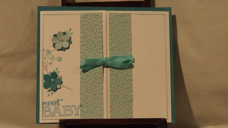 Something different, a baby card. Cute hey.