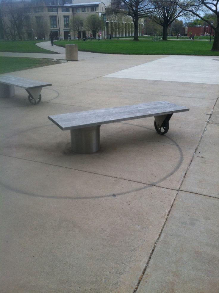 Rotating bench, Carnegie Mellon University, Pittsburgh.