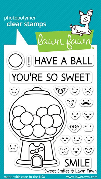 Lawn Fawn - Clear Acrylic Stamps - Sweet Smiles at Scrapbook.com