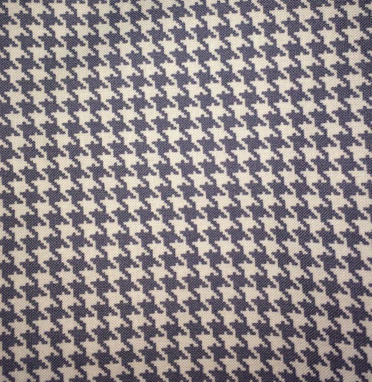 Coupon tissu coton motifs pied de poule / géométriques : Tissus pour Loisirs créatifs par allydeco