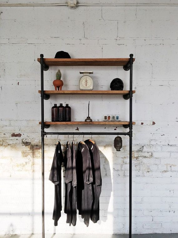 Organize your space with style. Perfect for your home, loft space or to display items in your retail store. This made to order industrial