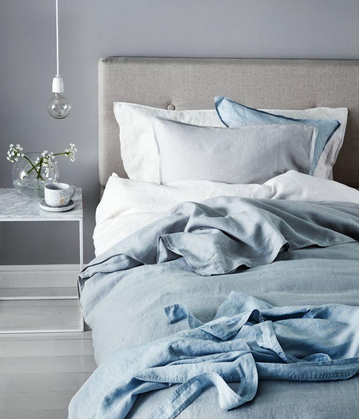 bettw sche aus leinen hellgrau home h m de interior pinterest linge de maison linge. Black Bedroom Furniture Sets. Home Design Ideas