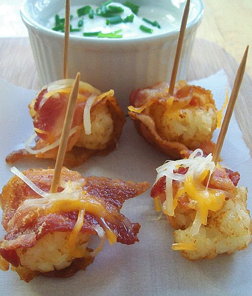 Bacon Wrapped Cheesy Tots