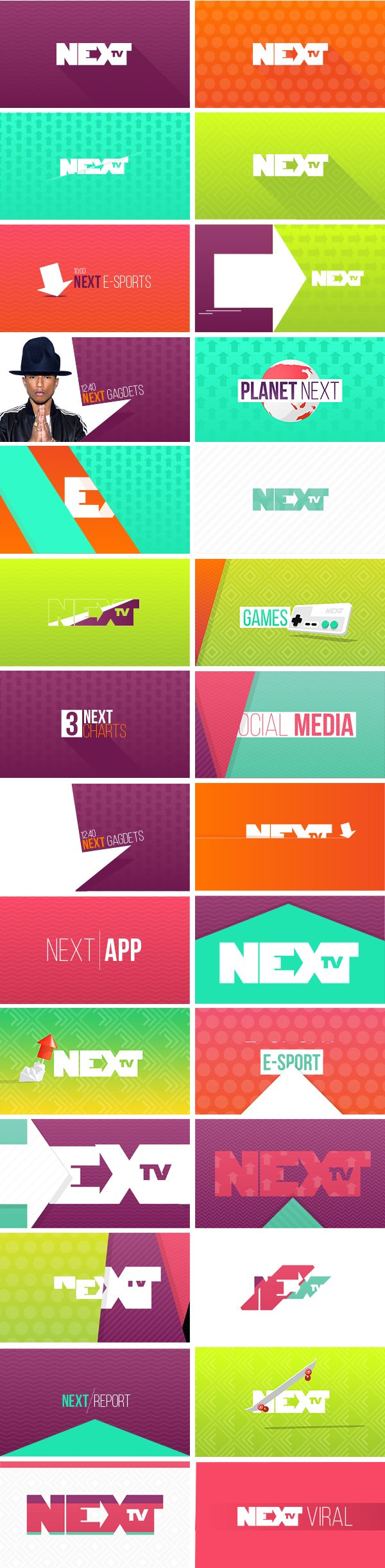 NEXT TV - Branding on Behance