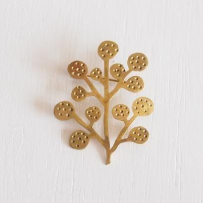 インドの真鍮ブローチ ■ツリー