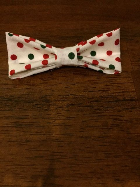 Christmas Poka Dot bow tie, now ON SALE NOW! Just $5.00!