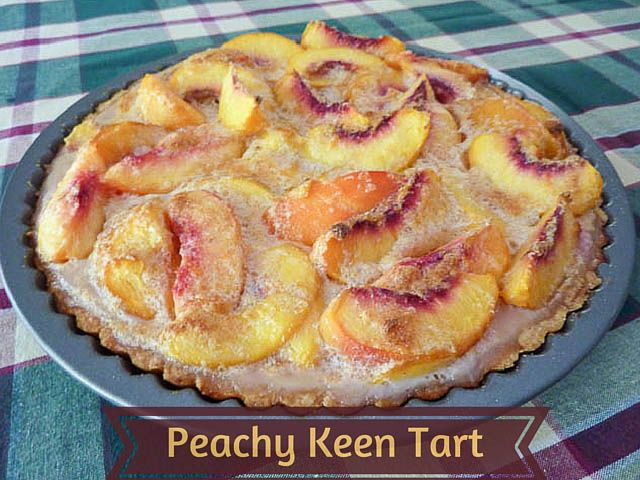 Jenna's Peachy Keen Tart inspired by the movie 'Waitress' * Get the recipe on TIFFIN - bite sized food adventures -