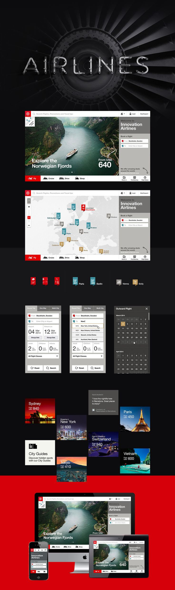 The Future of Airline Websites on Behance