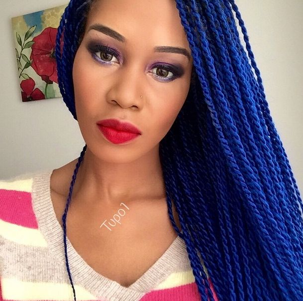 This African American colored braid look great when it's made longer falling at the back or embracing the bust. Description from designideaz.com. I searched for this on bing.com/images