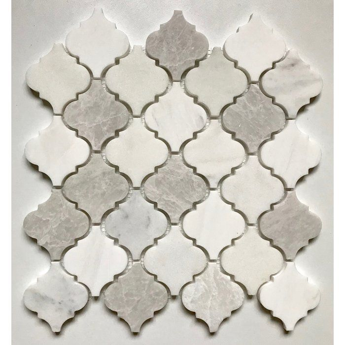 Arabesque 12 X 12 Marble Mosaic Wall Floor Tile In 2020 Marble Mosaic Tiles Marble Mosaic Arabesque Tile