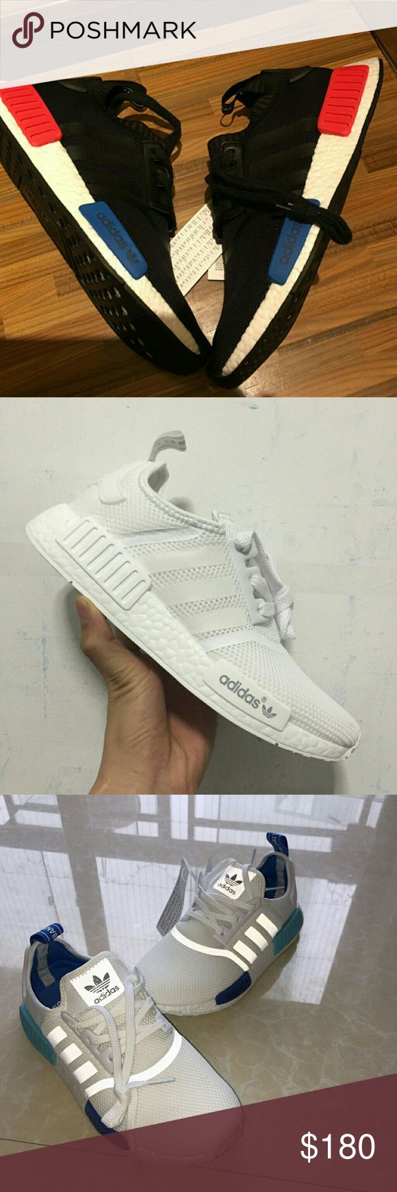 Adidas NMD R1 Runner Boost men women Size:5-11,  Color: pirate black S81846, All white S79166, White blue S75235, Black S79168;   (Get Big Discount!!!) Welcome to make an offer!!! adidas Shoes Athletic Shoes