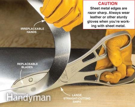 How to Use Tin Snips to Cut Sheet Metal                                                                                                                                                      More
