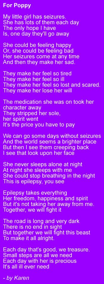 This is the most accurate description of what it's like to be a parent of a child with epilepsy.