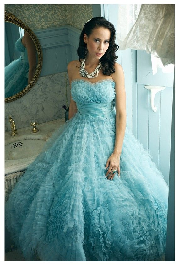 Beautiful Blue Prom Dress