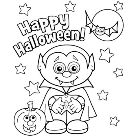 121 Best Icolor Little Kids Halloween Images On Pinterest Kid Dracula Coloring Pages