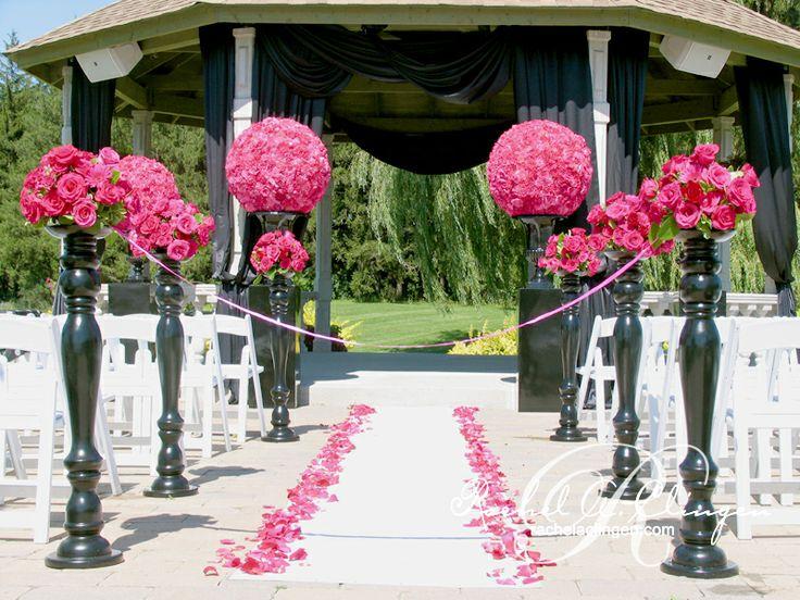 380 best wedding ceremony aisle decorations images on pinterest hot pink florals atop tall candlesticks aisle decor rachel a clingen wedding design junglespirit Choice Image