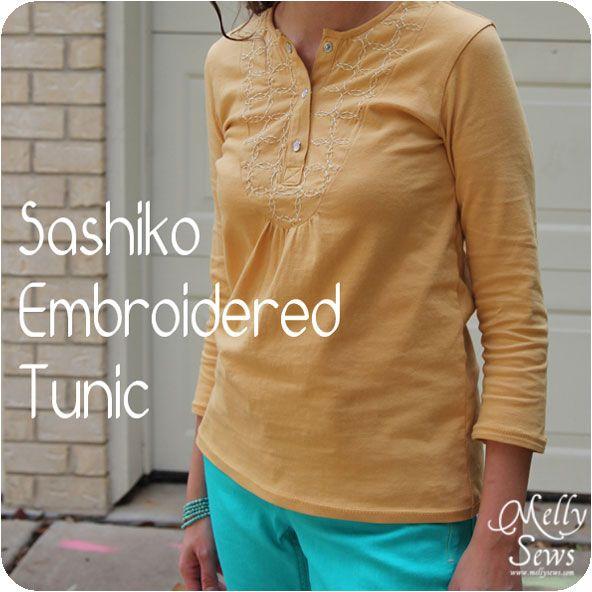 Melly Sews: Sashiko Tunic Tutorial and Free Pattern