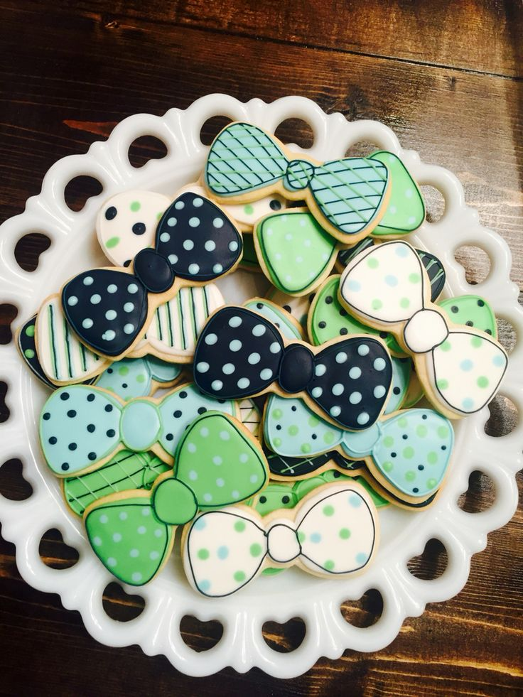 Baby Boy Bow tie cookies!                                                                                                                                                                                 More