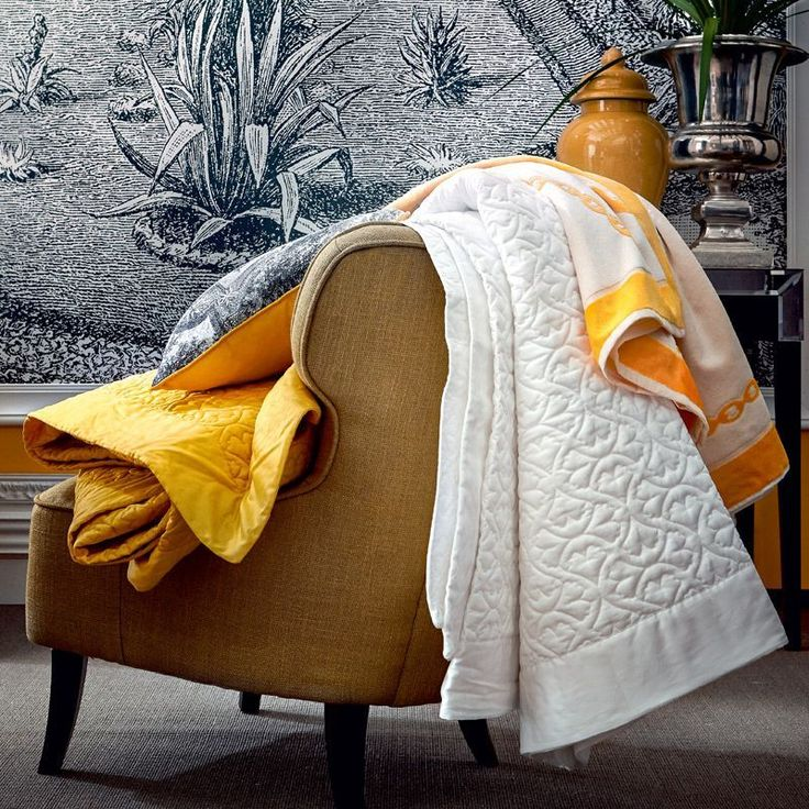 Couvre lit matelassé satin de coton Paradis Genêt 260x240