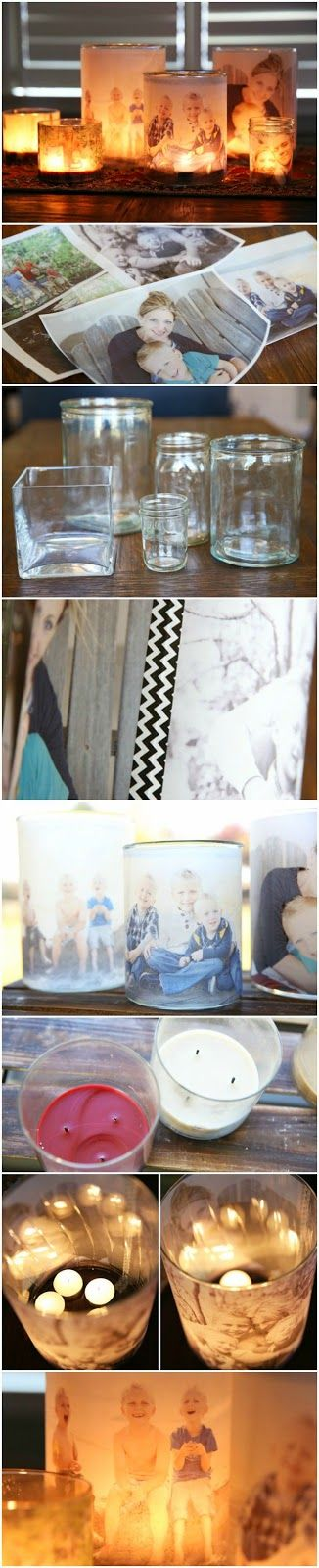 Best DIY Projects: Glowing Photo Luminaries – From Our Best Bites