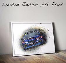 SUBARU WRX STI Poster RALLY RACE CAR 18x24 inch Ltd Edition Art Print with COA