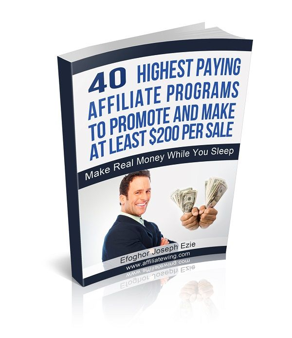 These are the 40 highest paying affiliate programs to promote and make at least $200 per sale. Promoting then won't cost you anything more.