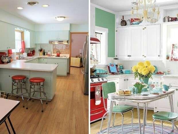 Cucine vintage Anni '50 - Cucina e sala da pranzo stile Anni '50