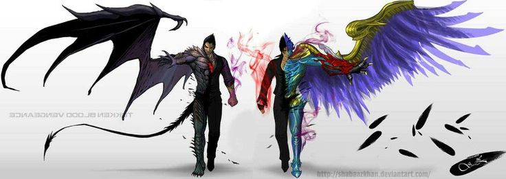 Devil Kazuya and Devil Jin by Shabaaz Khan