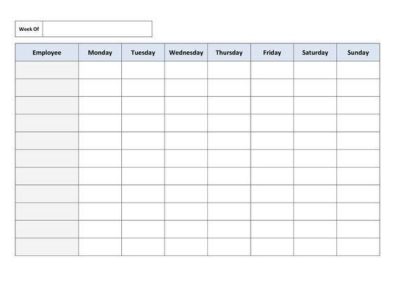 work schedules online free