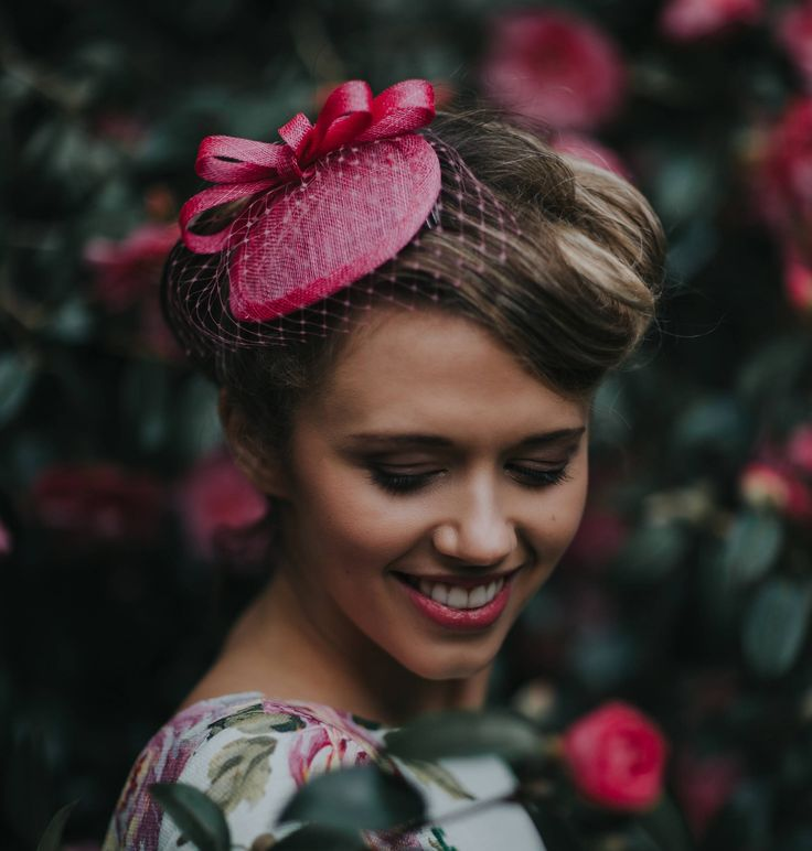 Pink vintage style cocktail hat by HollyYoungMillinery on Etsy #pink #pillbox #fascinator #hat #wedding #guest #races #garden #party #womens #summer #fashion #vintage #cute #millinery #UK #hair #victory #rolls