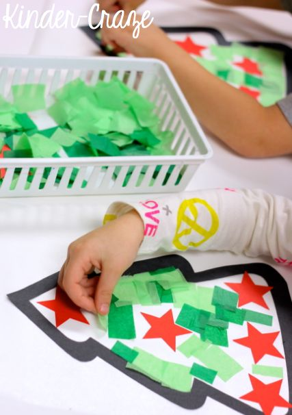 Tissue Paper Christmas Tree Window Decorations - Kinder Craze: A Kindergarten Teaching Blog