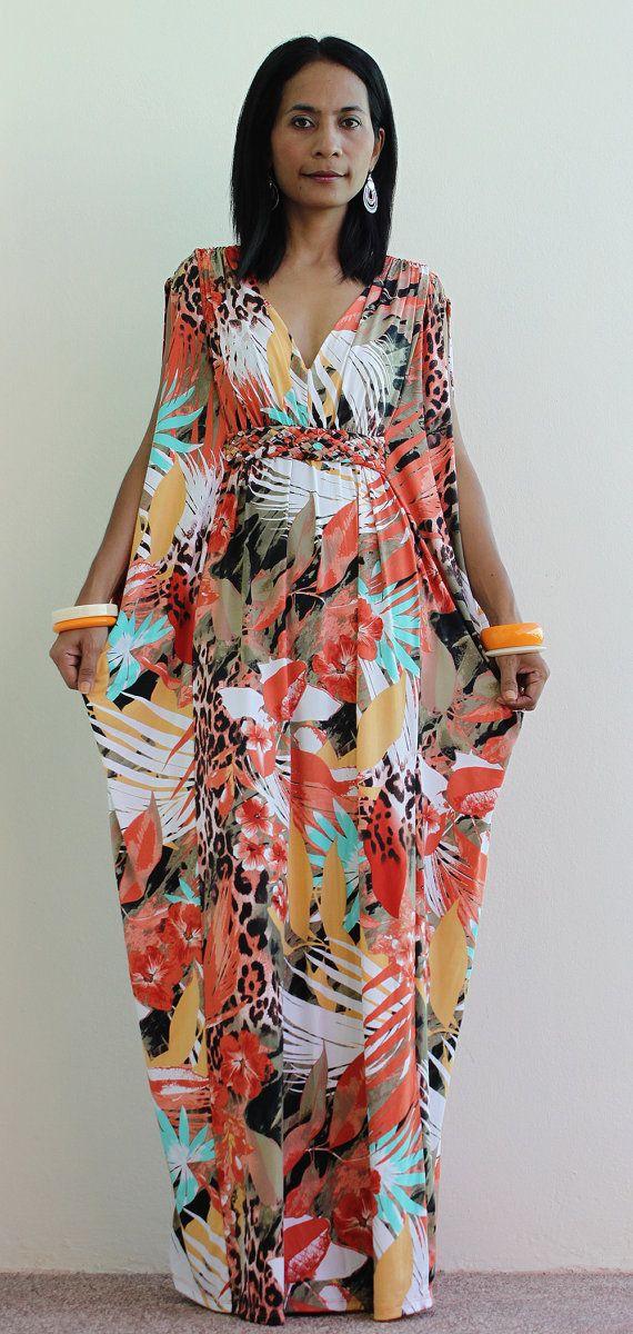 Long Kimono Maxi Dress by Nuichan, $58.00