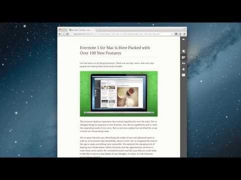Tutorial de Evernote Clearly, aplicación para Google Chrome Recomendada.