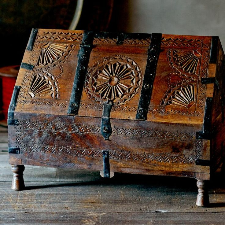 Wooden Hut Box ~ Hand Crafted By Artisans In India Via Www.worldmarket.