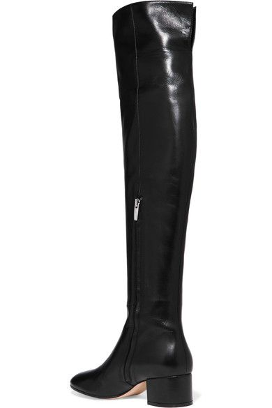 Gianvito Rossi - Leather Over-the-knee Boots - Black - IT36.5