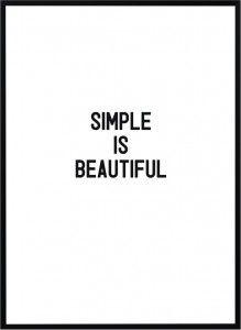 Plakat Simple - różne rozmiary