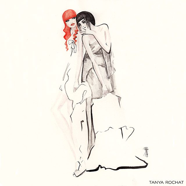 Couture Fashion Illustration by Tanya Rochat