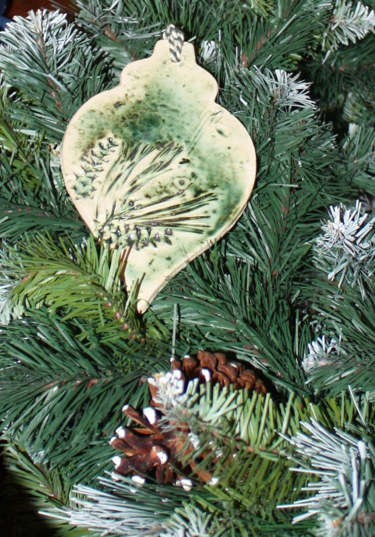 Large fir cone inspired decoration - ideal holiday gift by LitSmithCeramics on Etsy