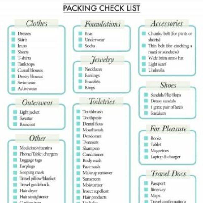 80 best packing list images on Pinterest Emergency preparedness - packing list template word