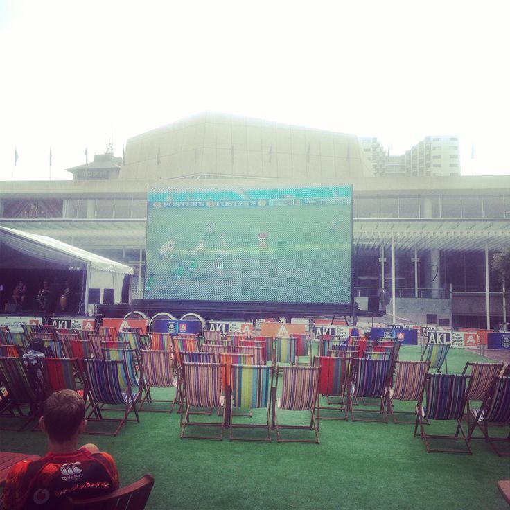 Fan zone for the Auckland 9's NRL